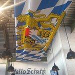 The ceiling flag, Bavarian.