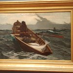 Winslow Homer: The Fog Warning (1885) you can just FEEL the storm!