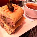 Cubano with soup