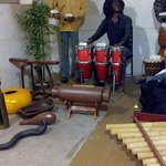 African Musicians Team with original instruments