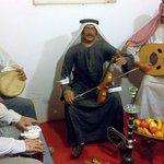 Arabs enjoying music with original instruments