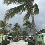 View right before subtropical storm Alberto came through the resort.