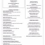 Tapas menu!