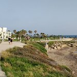 The walking street and little beach outside The hotel