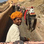 In Jaipur, elephants take you up the hill to the massive pillared pavilions of Amber Fort.