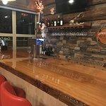 A one of a kind cedar bar