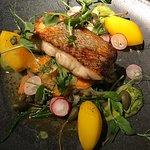 Cod with saffron potatoes