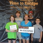 Escaped with smiles on their faces!