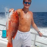 Tanner Reynolds with his large Snapper