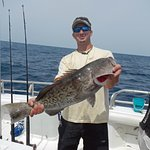 We often catch some nice grouper when fishing deep