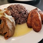 Pork Chunks with Moros and Plantains. Definitely a repeat!