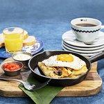 ¡NUEVOS Good Morning Combos! Crepe Típica 😋por ¢3.900. Incluye jugo de naranja y café. 👌🏻