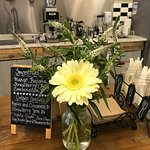 Crêped Specials & Smoothies Menu with Cozy Flowers