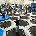 so many trampolines in one place :)