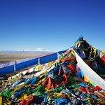 Beginning of Mount Kailash khora, view of the Gurla Mandhata