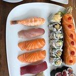 Perfektes sashimi und Sushi