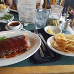 Ribs and Saratoga chips. Best ever.