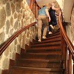 После лифта - лестница наверх.....