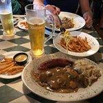 Schnitzel, sausage & sauerkraut