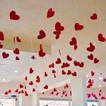 Nuestra decoración por San Valentin