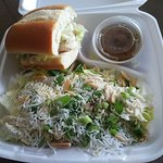 Half turkey sandwich and Chinese Chicken Salad combo served at Rascals Teriyaki Grill in Gardena