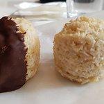 Chocolate and Plain macaroons.