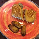Media noche with fried plantains