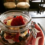 Summer breakfast menus feature light and healthy options like this fruit and greek yogurt parfai