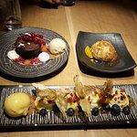 Desert- sample of the desert menu - love it