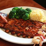 Ultimate Combo of BBQ Ribs, Chicken and Shrimp