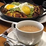 breakfast skillet and coffee