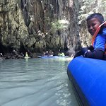 Canoe in the cave