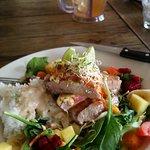 Seared tuna and tropicana salad