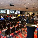Multiple shots of the 12 floor venue at the D for NCAA BB tourney