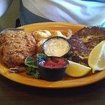 fish and crab cakes