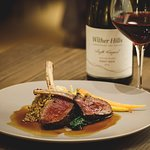 Venison from our seasonal menu paired with our Single Vineyard Pinot Noir