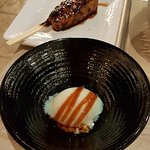 Chicken Tsukune with Soft-Boiled Egg