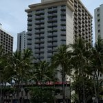 Exterior of hotel and proximity to beach