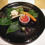 My finely prepared vegetarian sashimi dish