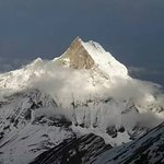 view of MT. Fishtail from Annapurna Base Camp