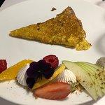 Dessert (Menu déjeuner à 28€) : crêpe au caramel/citron