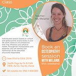 Book an Osteopathy Session with Melanie!