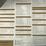 Отличная веранда, меню ресторана