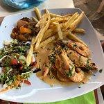 Shrimps in Galrlic - Pella Taverna
