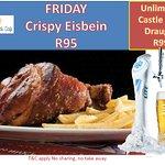 Fridays Crispy Eisbein also Bottomless draught on Friday & Saturday