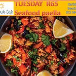 Tuesdays Speciality item, Seafood Paella R65