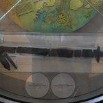 Broken burial sword.