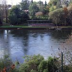 Waikato River at the rear