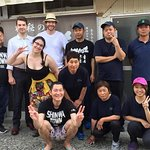 visit shochu maker  with foreign customers !