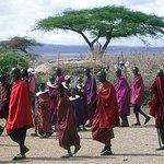 Native Maasai people at Ngorongoro